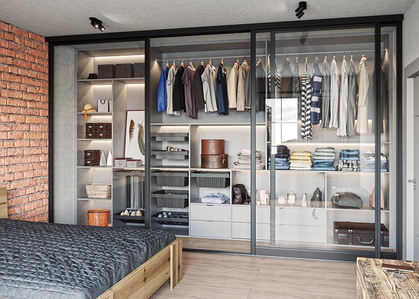 Garderoba w minimalistycznym stylu