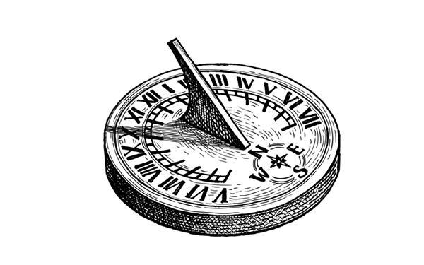 Zegar słoneczny 1300 lat p.n.e.